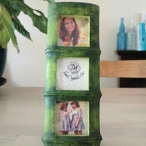 Bamboo photo frame green